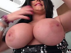 Desirable busty wife with a big booty likes to get her asshole slammed.