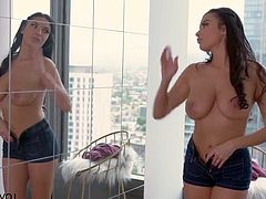 Or better yet in a empty loft in downton . Watch this gorgeous slut Anissa KAte having a nice long fuck with her lover in HD quality