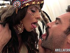 Ariella Ferrera is ready to take Karl Toughlove on a spiritual adventure which begins with an ancient root drink and ends up with her having her pussy impaled! Karl must spill his seed deep inside Ariella to become one with Mother Earth!