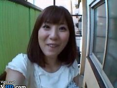 Japanese busty idol let her fan to cum on her
