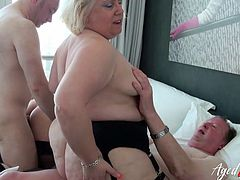 Busty mature ladies enjoying hard cock of wild horny guys Find full length videos on our network Oldnanny.com