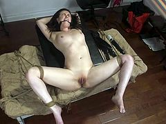 Tommy likes when his girlfriend participates in his crazy bdsm games, supports him and allows him to do what he wants with her. This time he tied her up, whips her naked body and wants her to beg him to fuck her... Join to see!