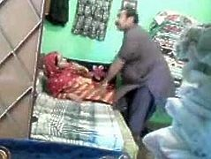 Mature Pakistani couple in to a quick fuck in shop